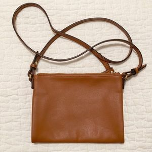 Old Navy Faux-Leather Cognac Brown Crossbody Purse
